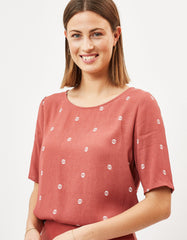 Minimum Elvire Blouse Marsala Print