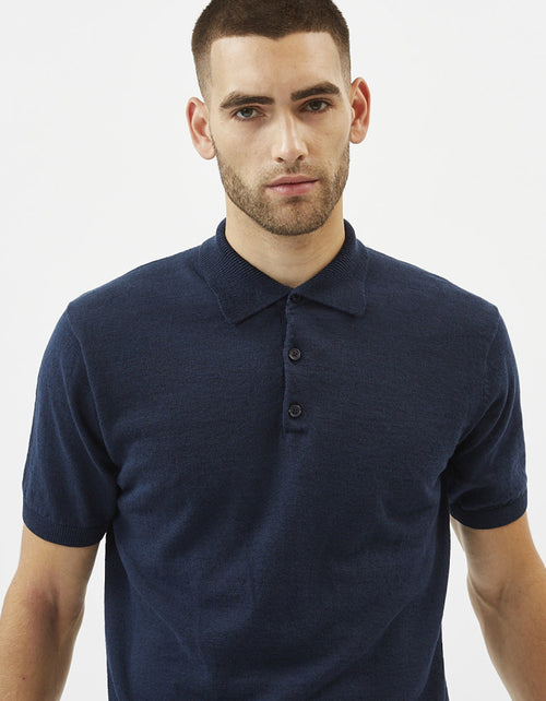Minimum Februus Polo Tee in Navy Blazer