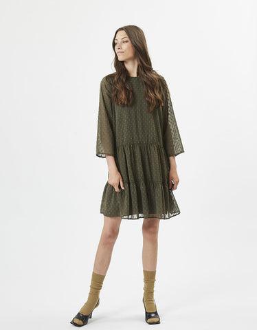 Minimum Feria Short Dress Dark Olive