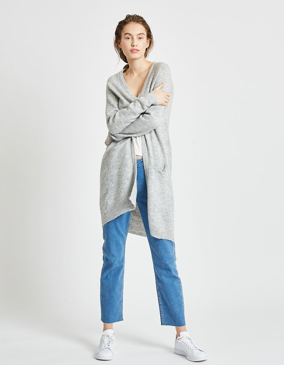 Minimum Kerstin Cardigan Light Grey
