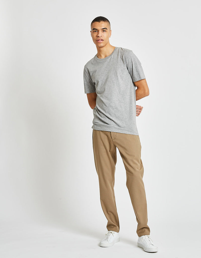 Minimum Luka Tee Light Grey Melange