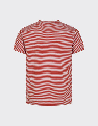 Minimum Luka Striped Tee Red Ochre