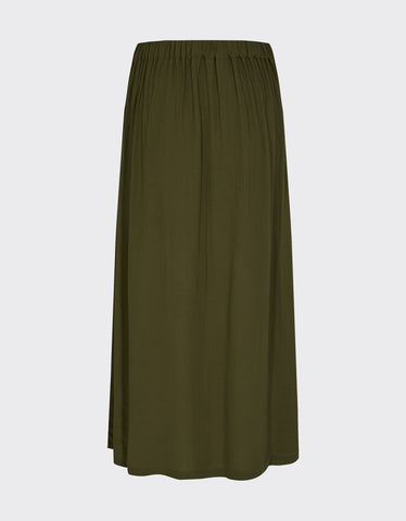 Minimum Maisa Midi Skirt Dark Olive