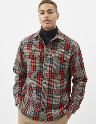 Minimum Tobi Overshirt Red Ochre
