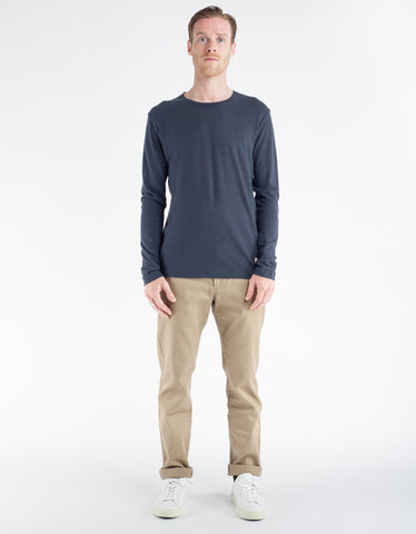 Minimum Vivaldi Long Sleeve Tee Dark Navy
