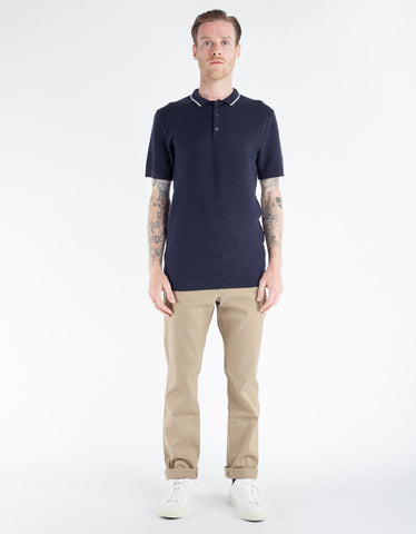 Minimum Zigg Polo Shirt Dark Navy