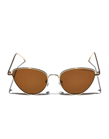 Mulberry & Grand Metal Frame Pool Party Sunglasses Gold