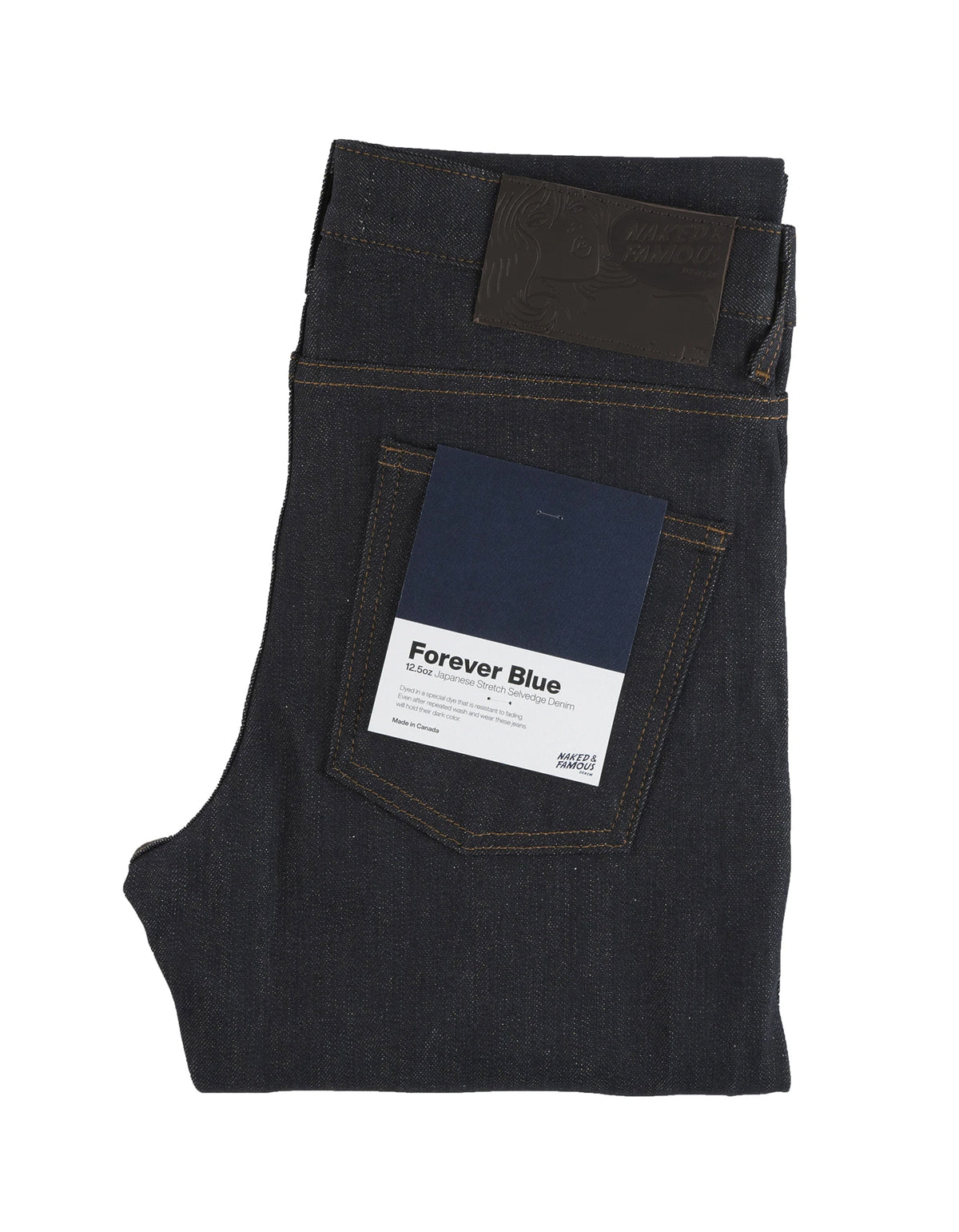 Naked & Famous Easy Guy Stretch Selvedge Jean in Forever Blue