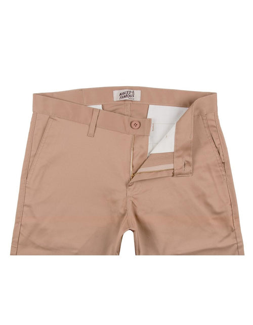 Naked & Famous Slim Chino Stretch Twill in Beige