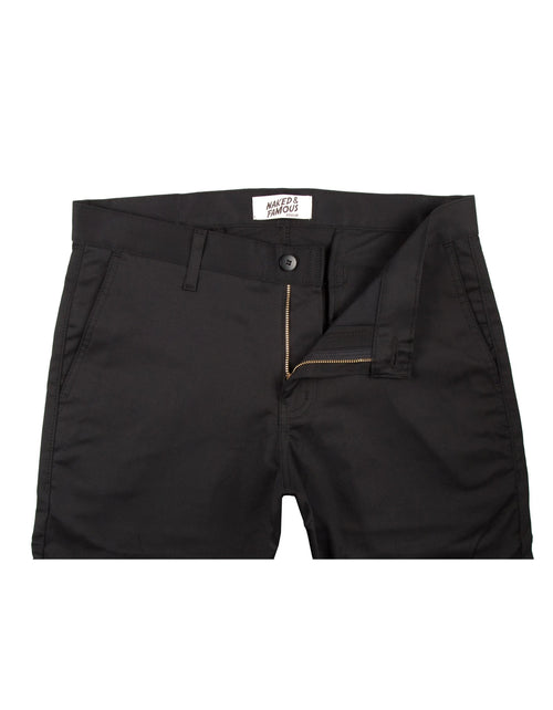Naked & Famous Slim Chino Stretch Twill in Black