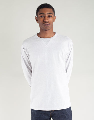 National Athletic Goods Long Sleeve Gym Tee White Heather
