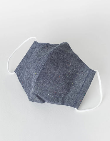 National Standard Face Mask Japanese Colour Nep Chambray Navy
