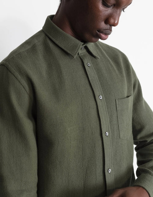 National Standards Japanese Woven Thermal Shirt Army