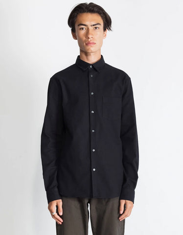 National Standards Yarn Dyed Flannel Shirt Black