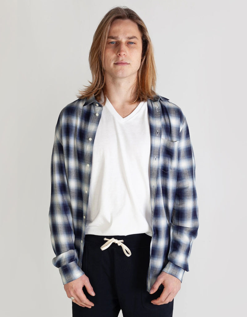 National Standards Kage Plaid in Blue/White