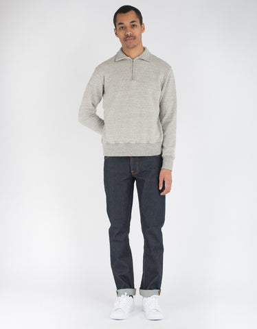 National Athletic Goods 1/4 Zip Campus LS Mid Grey