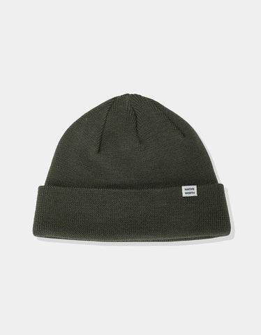 Native North Merino Melange Beanie Green