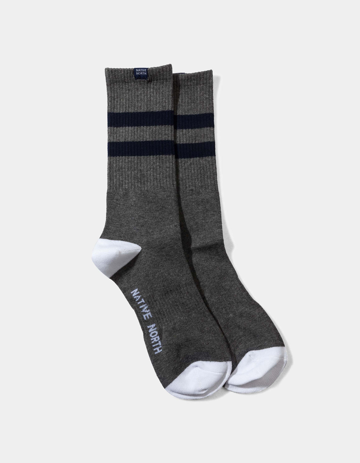 Native North Striped Socks Grey Navy