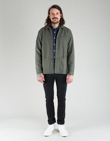 Native North Wool Utility Jacket Off Green