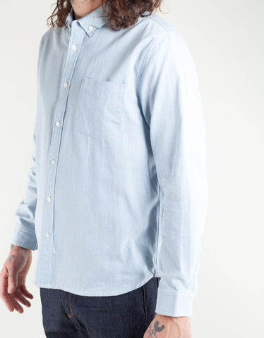Native North Striped Fifties Shirt Blue