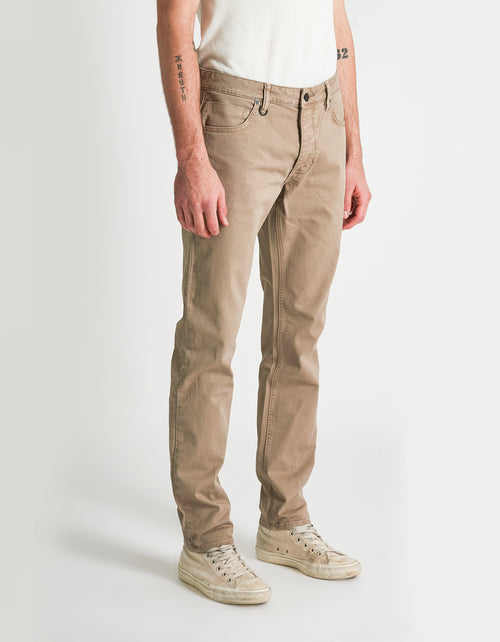 Neuw Lou Slim Twill Pant in Light Stone