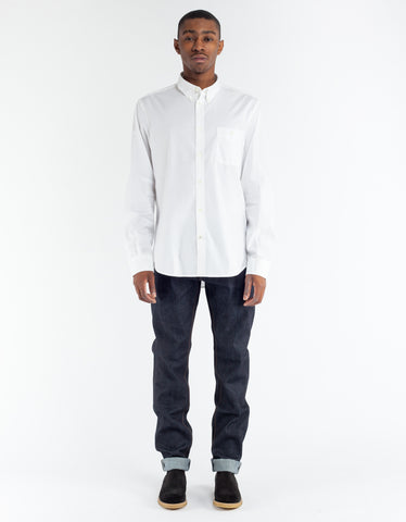 NN07 New Derek Poplin Shirt White