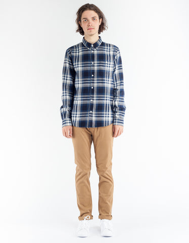 NN07 New Derek Shirt Blue Check