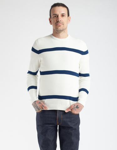 No Nationality Phil Sweater White Navy