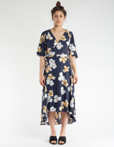 Just Female Nolita Wrap Dress Alstra Blue AOP