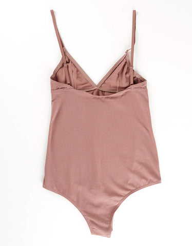 The Nude Label Basic Bodysuit Taupe - Still Life - 2
