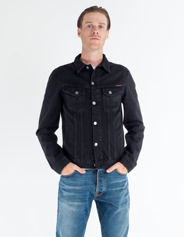 Nudie Billy Denim Jacket Black Rinsed
