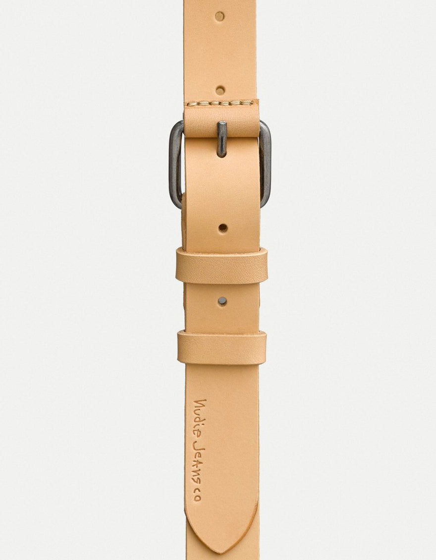 Nudie Dwayne Leather Belt natural