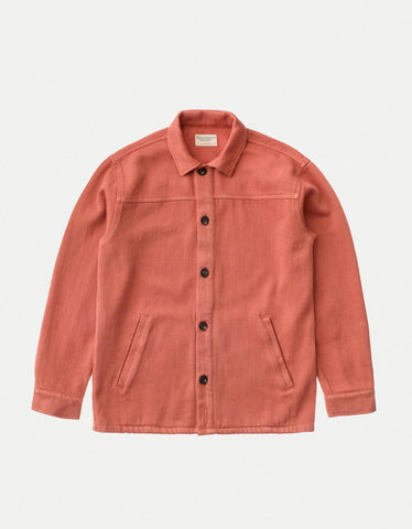 Nudie Elias Overshirt Dusty Red
