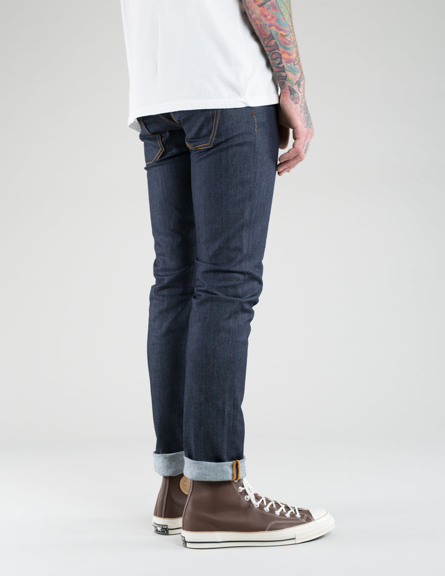 Nudie Grim Tim Dry Open Navy Indigo