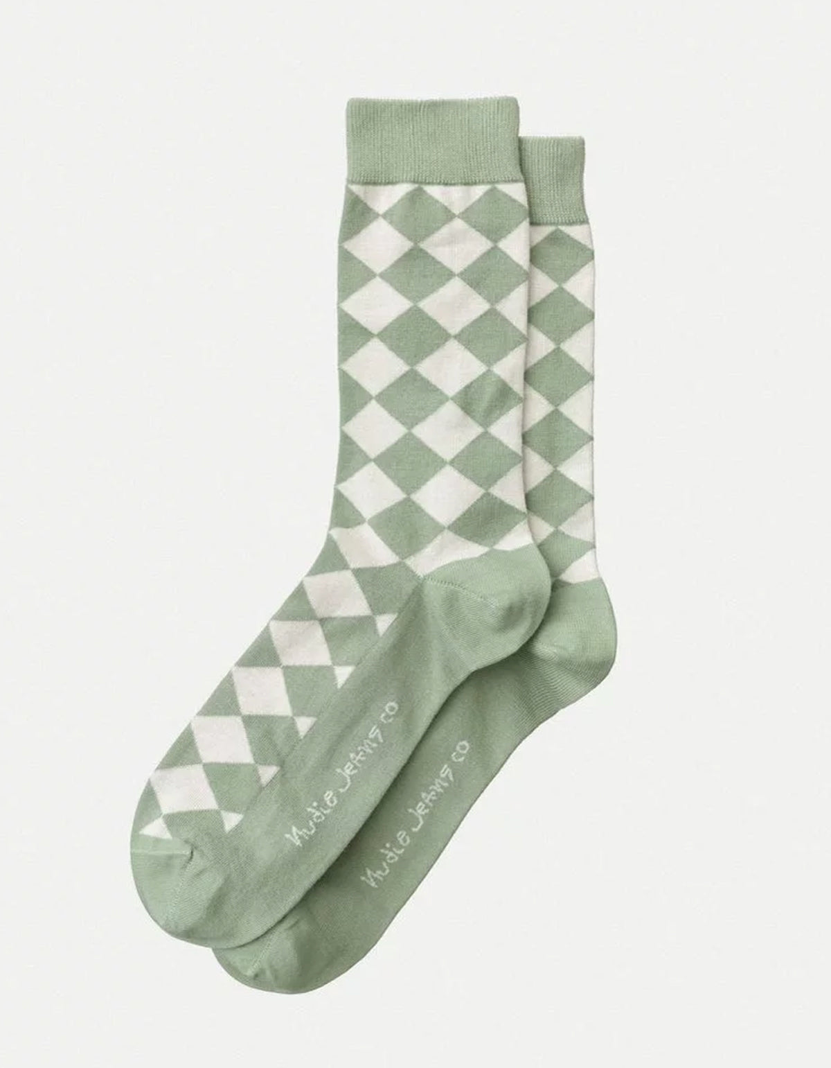 Nudie Olsson NJ Argyle Socks Pale Green