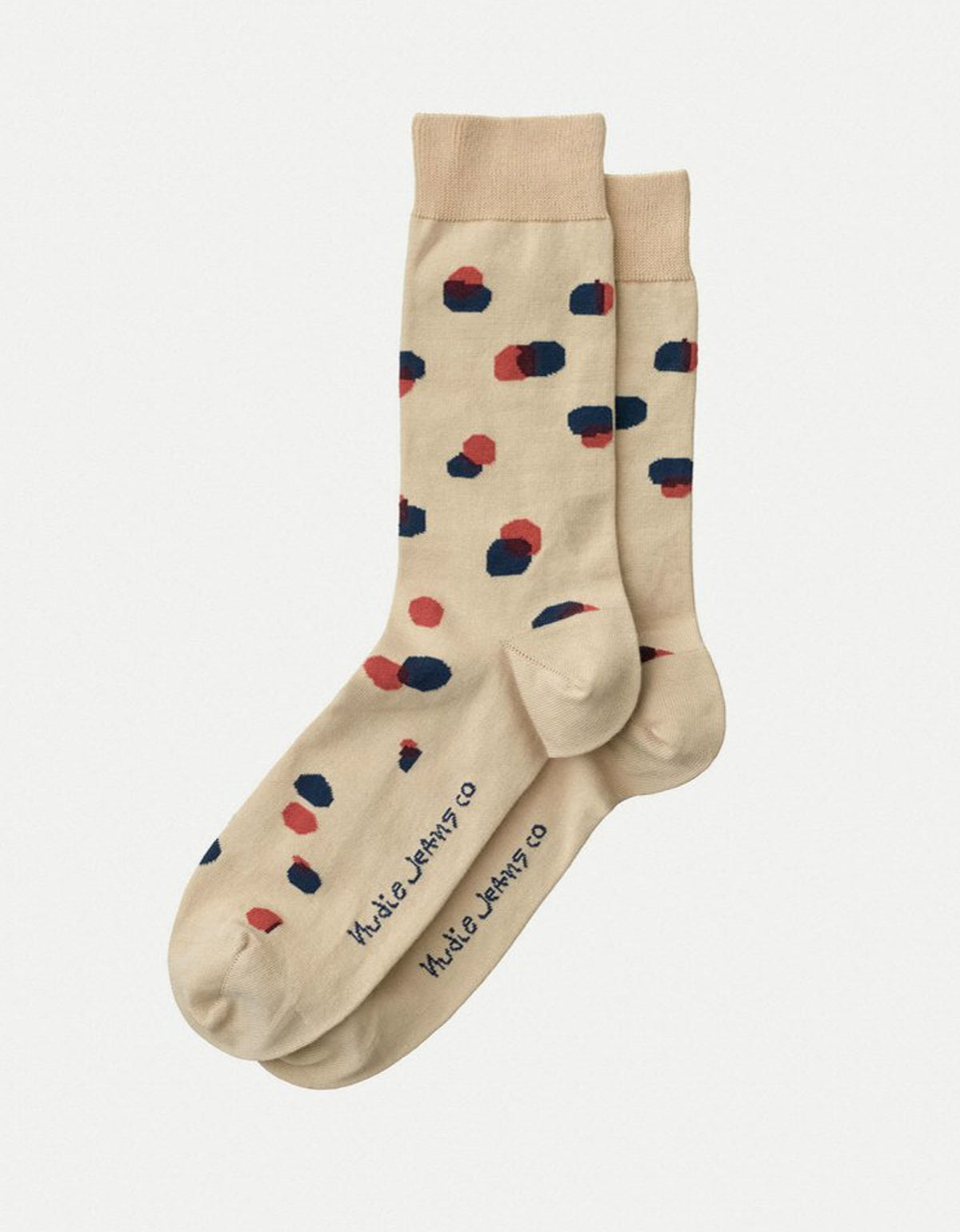 Nudie Olsson Random Dots Socks, Beige