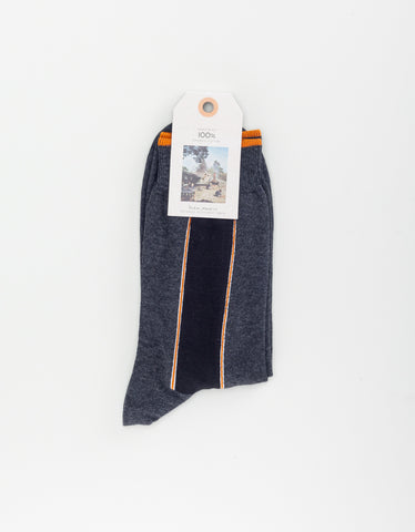 Nudie Olsson Selvage Socks Dark Grey
