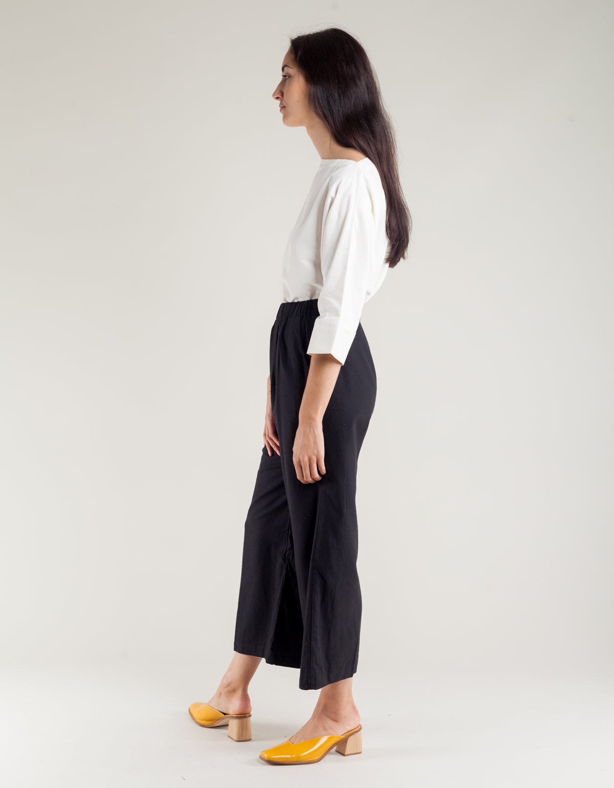 Ozma Crop Wide Leg Pant Black