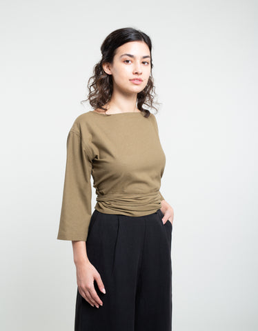 Ozma Reversible Cross Top Olive