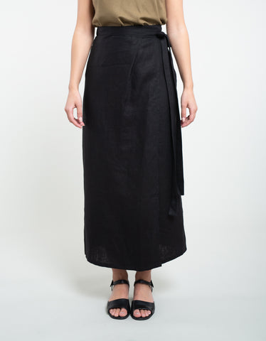 Ozma Venice Wrap Skirt Black