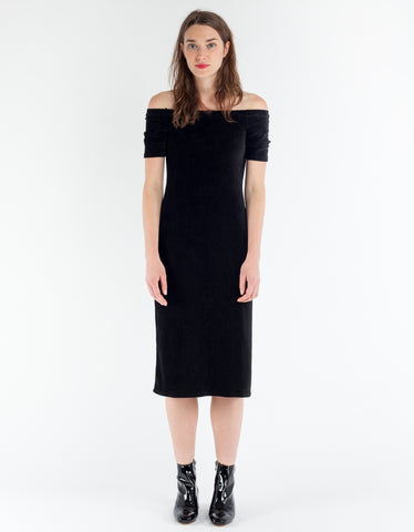 Paloma Wool Buenaventura Corduroy Dress Black
