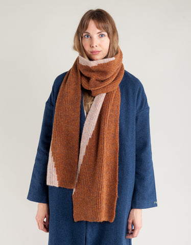 Paloma Wool Lua Scarf Shiny Brown