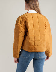 Paloma Wool Mateo Quilted Jacket Cinnamon