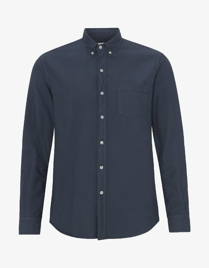Colorful Standard Organic Button Down Shirt in Petrol Blue