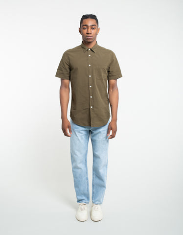 Portuguese Flannel Atlantico Short Sleeve Shirt Olive