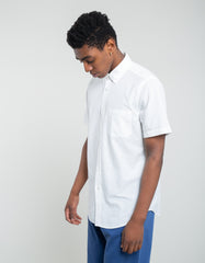 Portuguese Flannel Atlantico Short Sleeve Shirt White