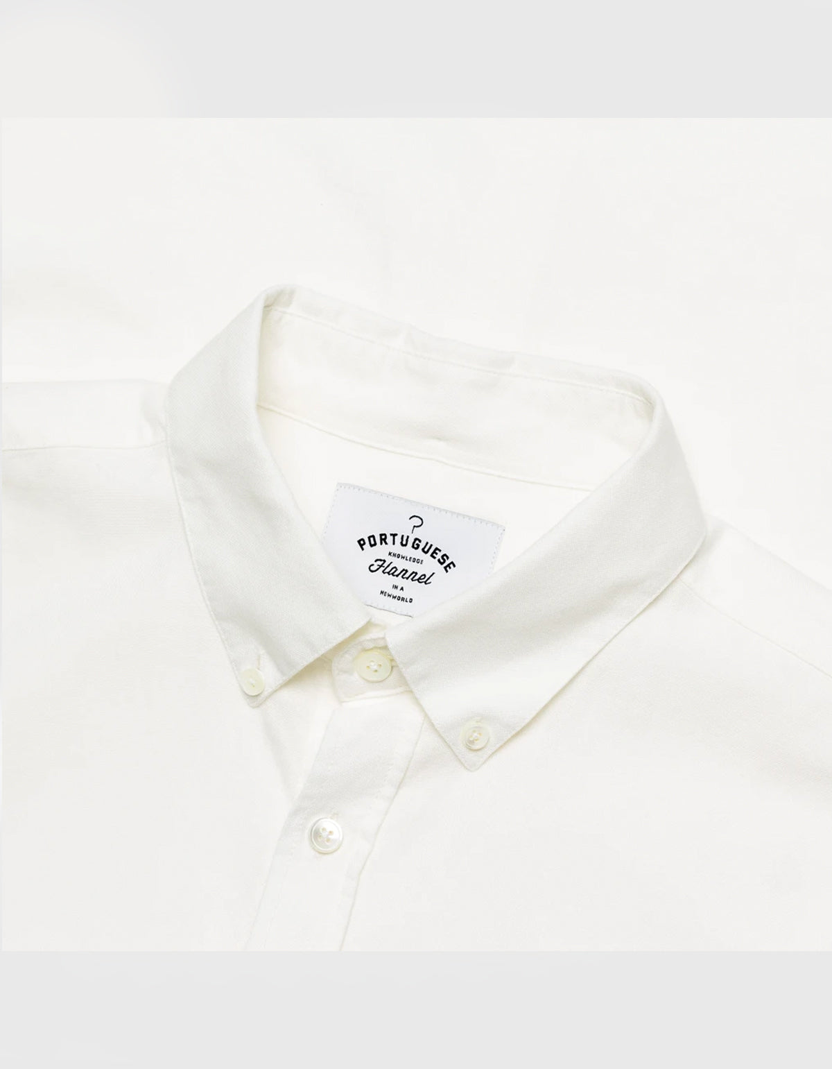 Portuguese Flannel Belavista Long Sleeve Shirt Off White
