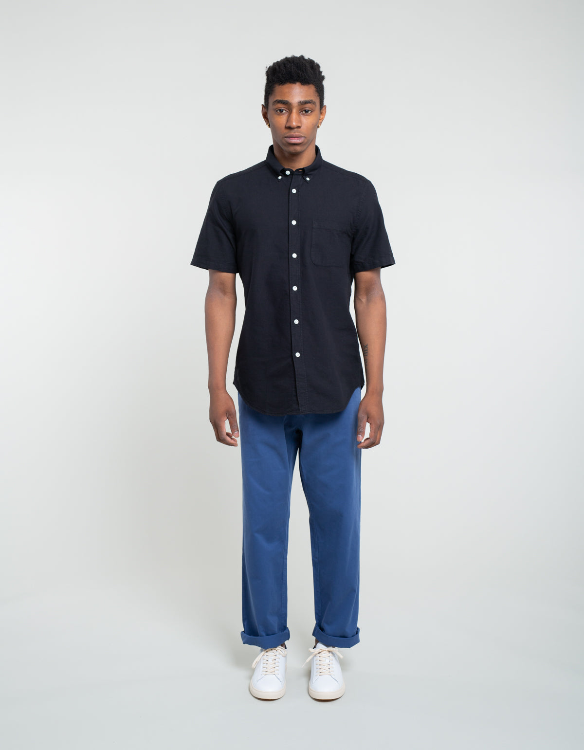 Portuguese Flannel Belavista Short Sleeve Shirt Black