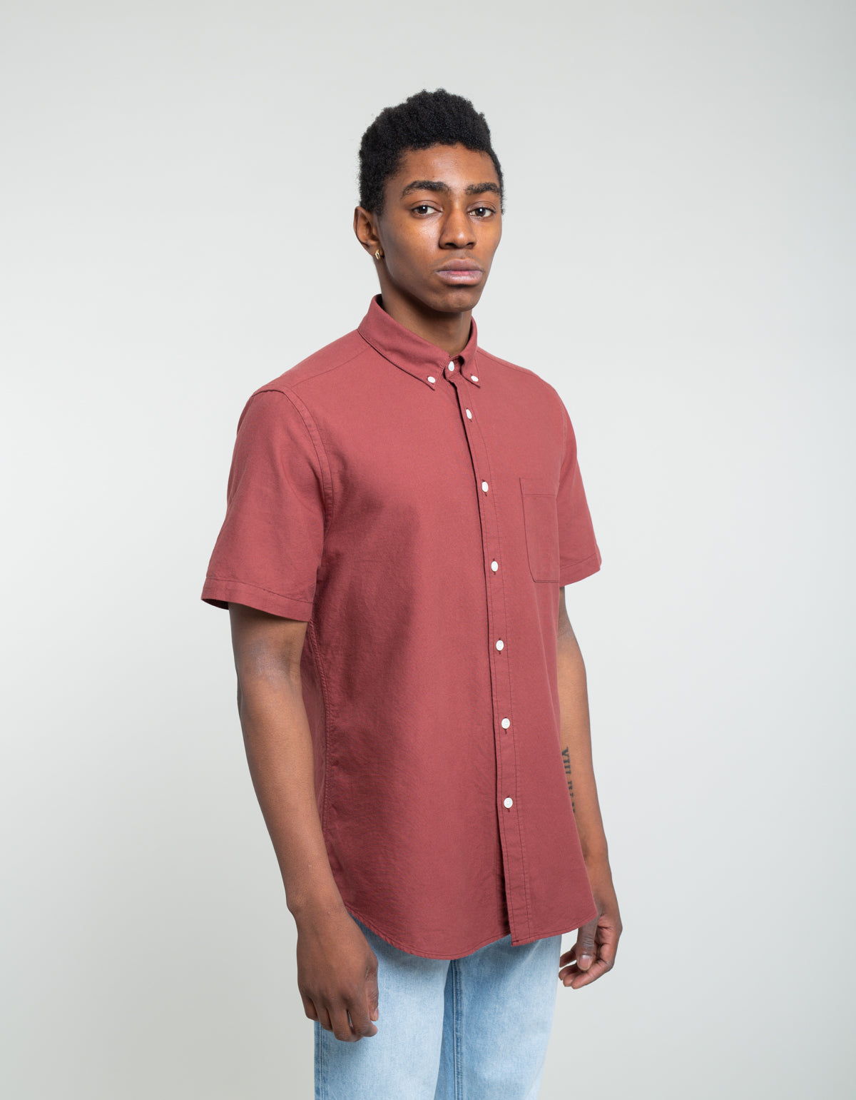 Portuguese Flannel Belavista Short Sleeve Shirt Bordeaux