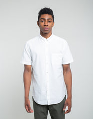 Portuguese Flannel Belavista Short Sleeve Shirt Off White